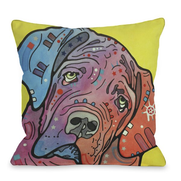 Doggy Décor The Bully Throw Pillow by One Bella Casa