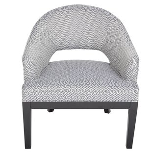 Draper Woven Greek Key Open Back Barrel Chair by Porter International Designs