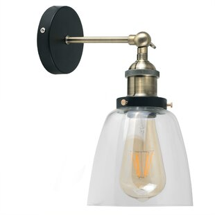 Battery powered wall lights wayfair 1 light armed sconce aloadofball Image collections