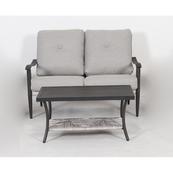Kody Woven 2 Piece Seating Group with Cushions by Rosecliff Heights