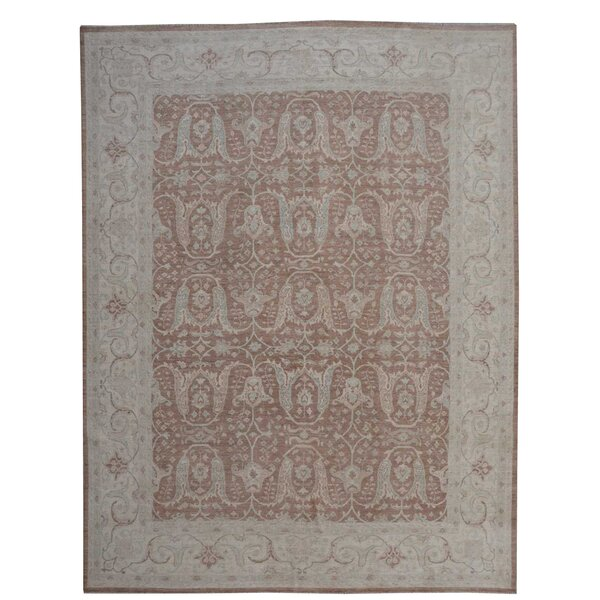 Hand-Knotted Brown/Gray Area Rug by Wildon Home ®