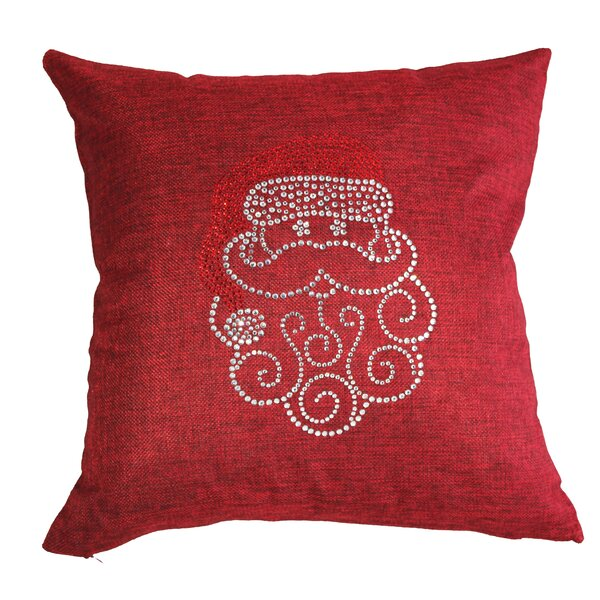 Rhinestone Santa Claus Throw Pillow by Sparkles Home