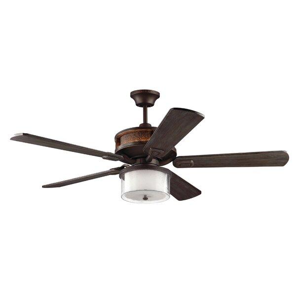 56 Beauchemin 5 Blade LED Ceiling Fan with Remote by Fleur De Lis Living