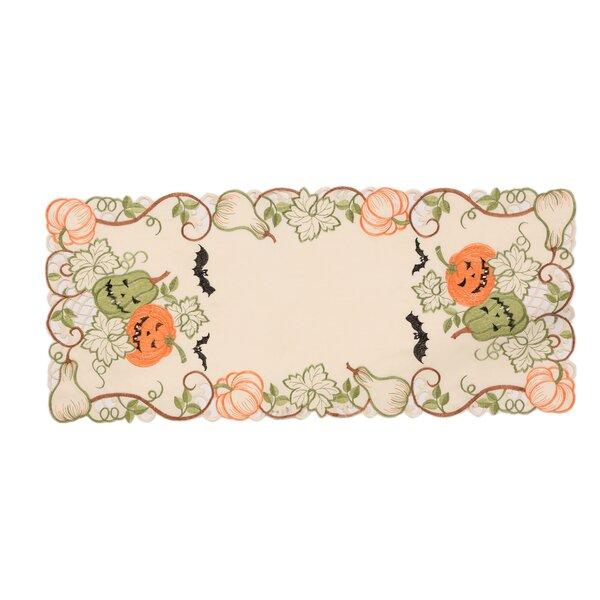 Adamson Halloween Jack-O-Lanterns Table Runner by The Holiday Aisle