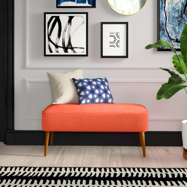 Mchale Upholstered Bench by Mercury Row