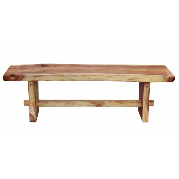 Efren Live Edge Slab Wooden Picnic Bench by Millwood Pines Millwood Pines