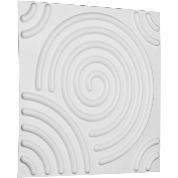Spiral 19.63 x 19.63 Mosaic Tile in White by Ekena Millwork