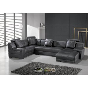 Houston Leather Sectional Hokku Designs