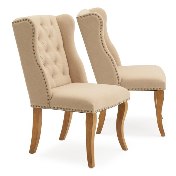 Stubbs Upholstered Dining Chair (Set of 2) by One Allium Way