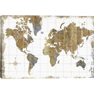 'Gilded Map' Graphic Art Print by Zipcode Design