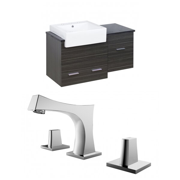 Hindman 37 Wall-Mounted Single Bathroom Vanity Set by Royal Purple Bath Kitchen