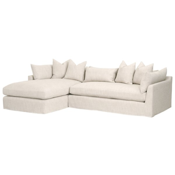 Grimm Slipcover Reversible Sectional by Rosecliff Heights