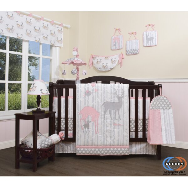 Three Lakes Baby Girl Deer Family Nursery 13 Piece