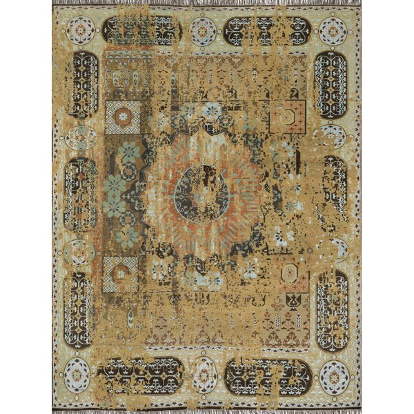 Keithley Hand-Knotted Dune Stone Area Rug by Alcott Hill