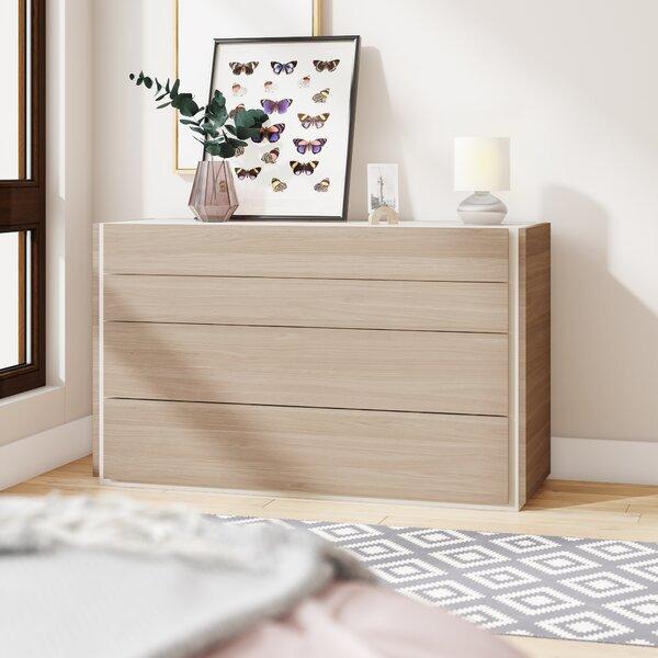 Bridgeport 4 Drawers Dresser by Wade Logan