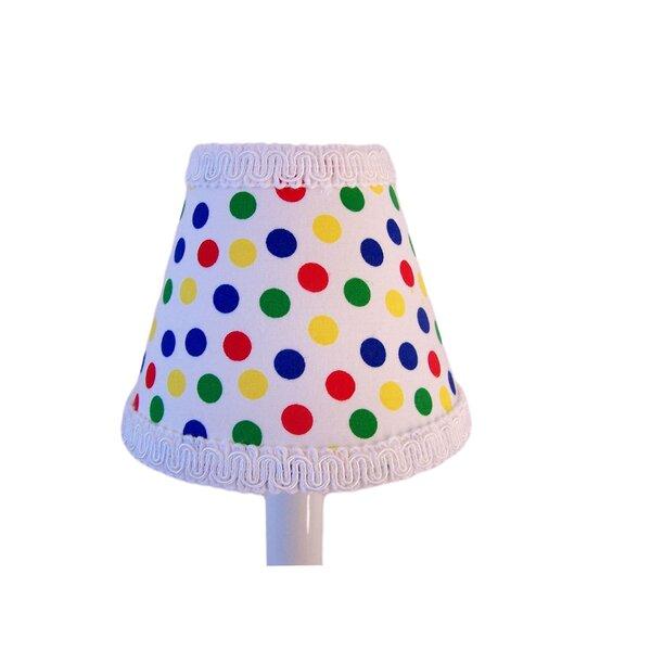 Color Crayon Cutie 4 H Fabric Empire Candelabra shade ( Clip on ) in White