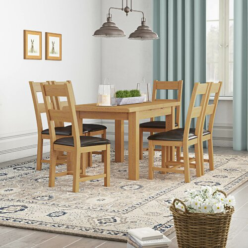 Extending Dining Set with 6 Chairs Gracie Oaks
