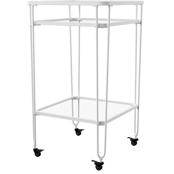 Labbe Metal and Glass Bar Cart by Mercury Row Mercury Row