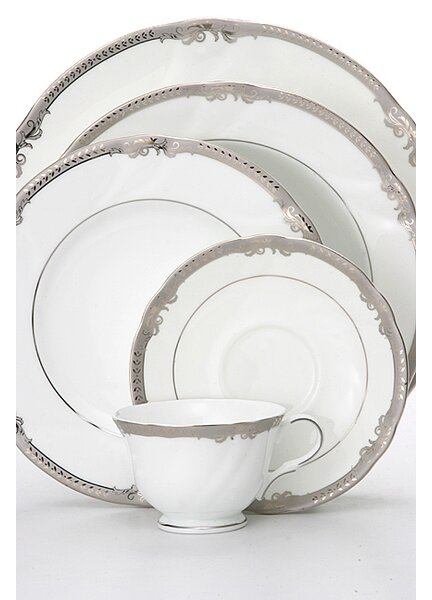 Ivy 5 Piece Bone China Place Setting, Service for 1 (Set of 4) by Shinepukur Ceramics USA, Inc.