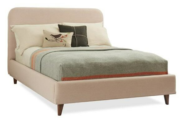 Craftsman Queen Upholstered Platform Bed by Caracole Modern