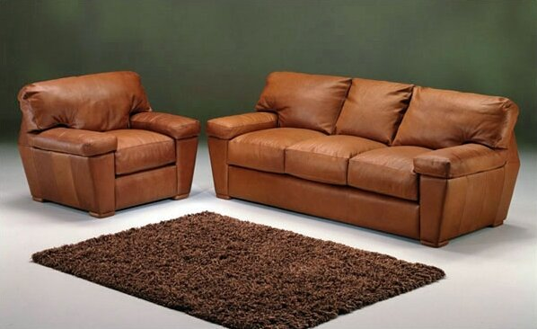 Prescott Sleeper Leather Configurable Living Room Set by Omnia Leather