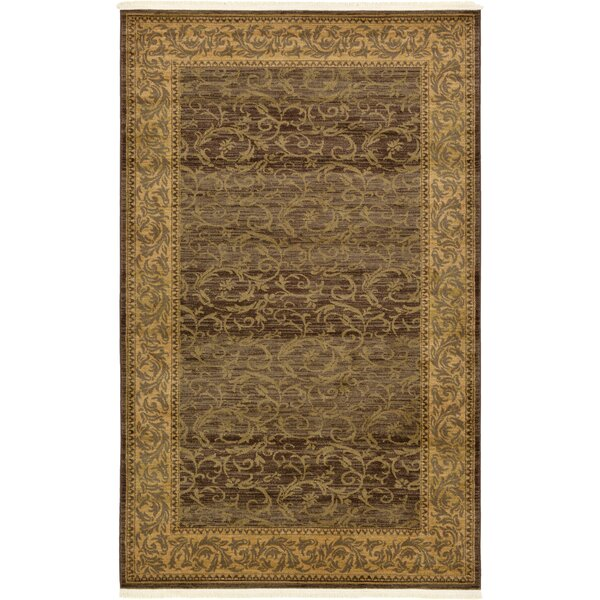 Oskar Brown Area Rug by Charlton Home