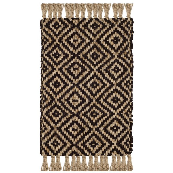 Sherbrooke Natural Fiber Hand Woven Brown Area Rug  by Bungalow Rose