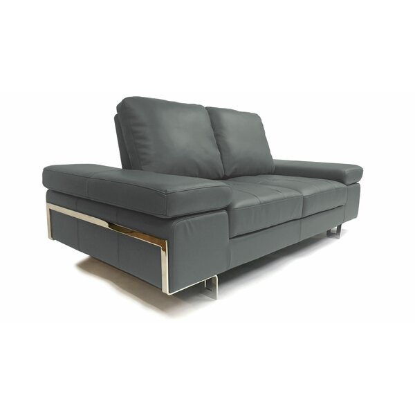 Gia Leather Loveseat by At Home USA