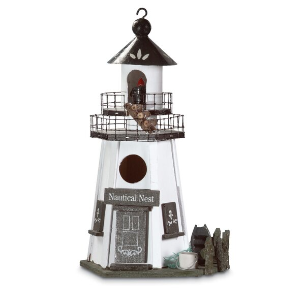 Lighthouse Lookout 12.5 in x 7.5 in x 5.5 in Birdhouse by Zingz & Thingz