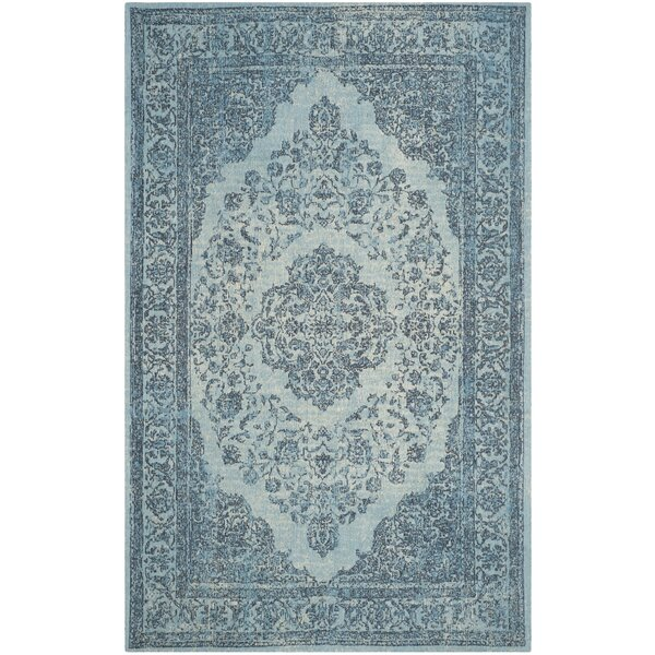 Middleborough Cotton Blue Area Rug by Bungalow Rose