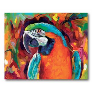 'Pretty Bird' Painting Print on Canvas by Courtside Market