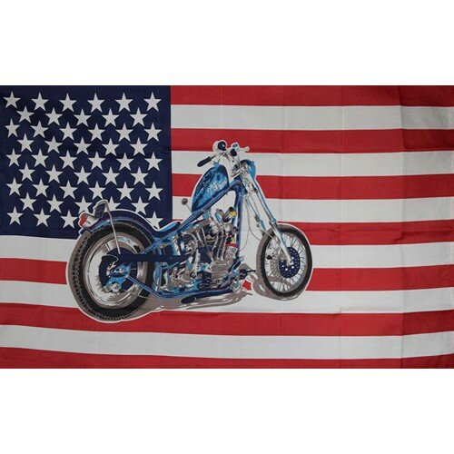 US Motorcycle Historical Traditional Flag by NeoPlex