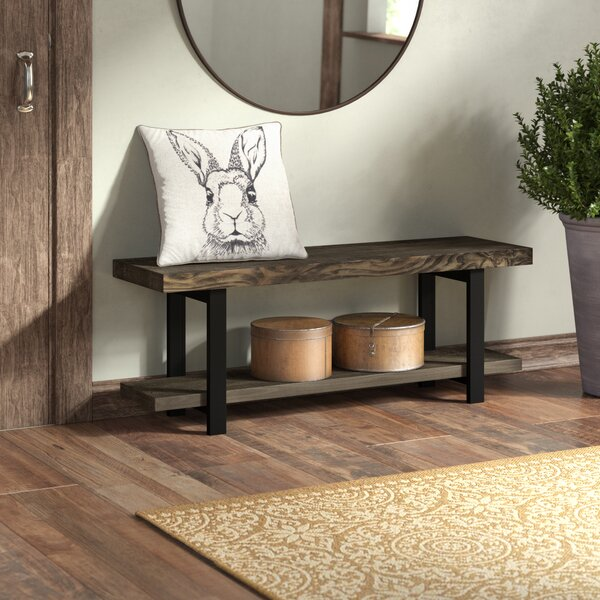 Thornhill Solid Wood Shelves Storage Bench