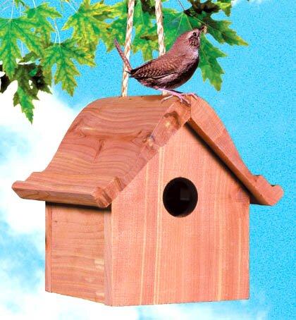 Cottage 6.5 in x 7.5 in x 6.5 in Wren House by Woodstream Wildbird