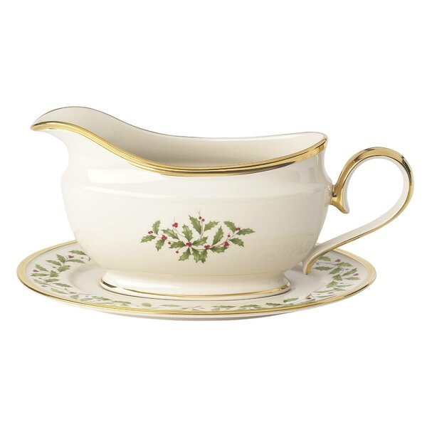 Holiday Sauce Gravy Boat by Lenox