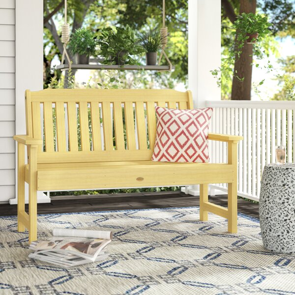 Amelia Plastic Garden Bench by Three Posts Three Posts
