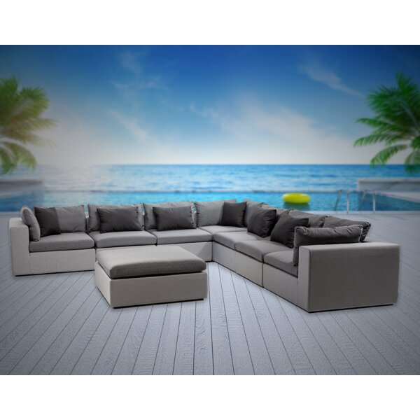 Malani 8 Piece Sunbrella Sectional Seating Group with Sunbrella Cushions Brayden Studio W001287101