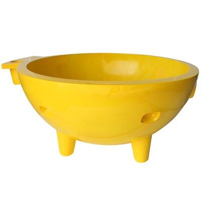 Portable 4-Person Hot Tub Alfi Brand Finish: Yellow