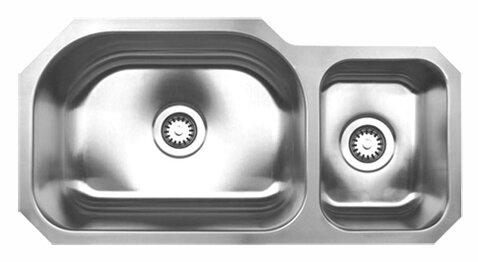 Noah's 32.75 L x 16.75 W Chefhaus Double Bowl Undermount Kitchen Sink