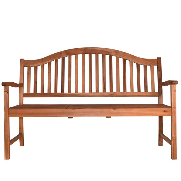 Aranmore Outdoor Wood Garden Bench by Beachcrest Home