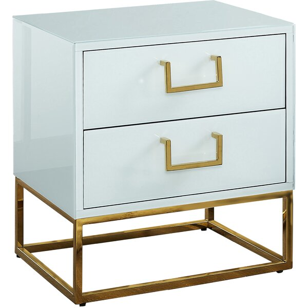 Kemble 2 Drawer Nightstand By Everly Quinn by Everly Quinn 2020 Sale