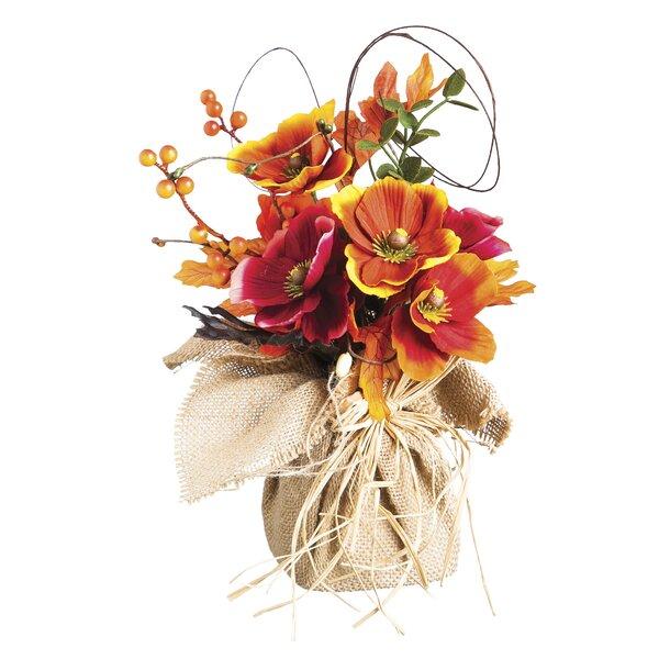 Uri Poppy Flower Tabletop Floral by Bloomsbury Market