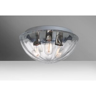 Affordable Pinta 3-Light Outdoor Flush Mount By Besa Lighting