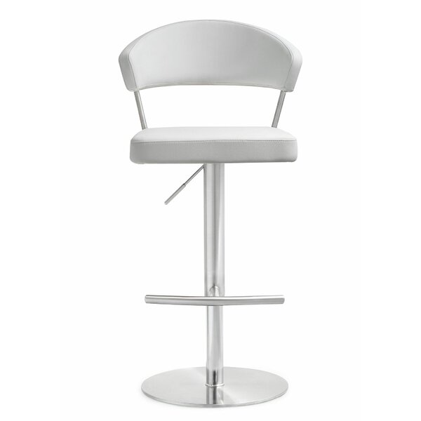 Kerry Adjustable Height Swivel Bar Stool by Wade Logan