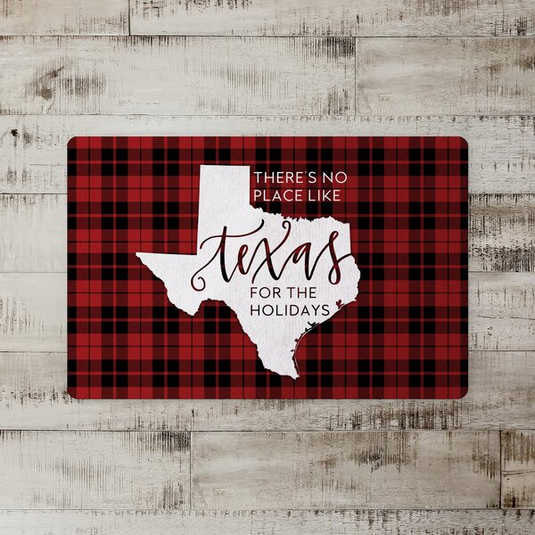Taniya There's No Place Like Texas for the Holidays Kitchen Mat