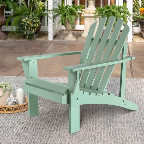 Nahua Solid Wood Adirondack Chair by Highland Dunes Highland Dunes