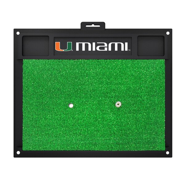 NCAA University of Miami Golf Hitting Mat by FANMATS