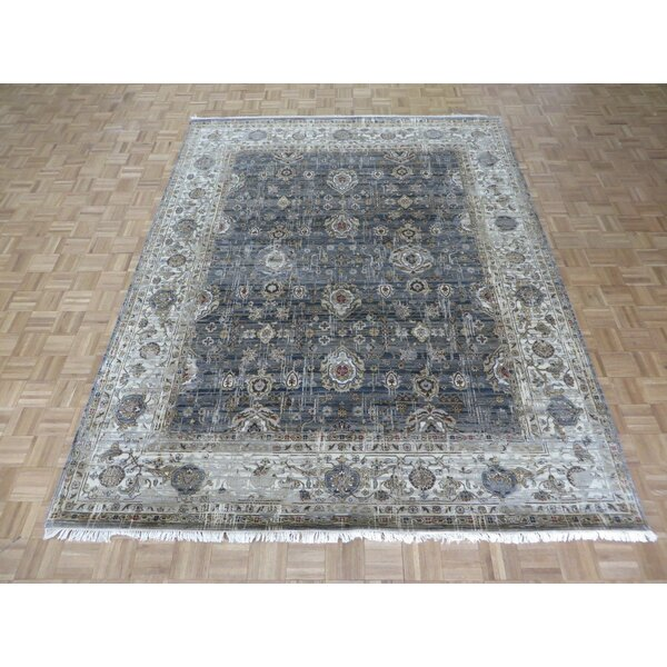 One-of-a-Kind Rhyne Hand-Knotted Cotton Gray Area Rug by Astoria Grand