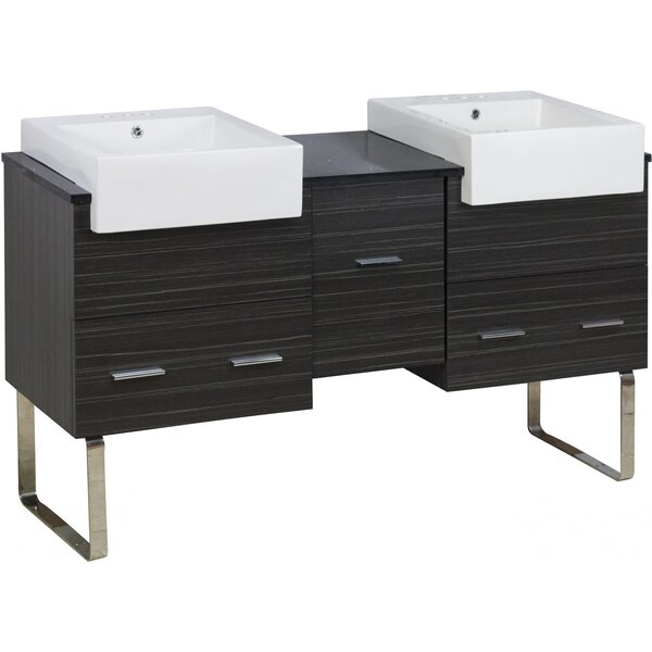 Bastin 60 Double Bathroom Vanity Set by Orren Ellis