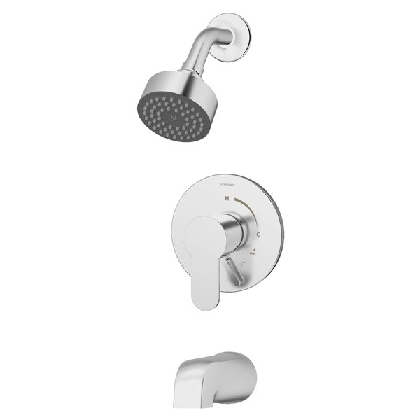 Identity Tub and Shower Faucet Trim Kit with Metal Lever Handle by Symmons Symmons